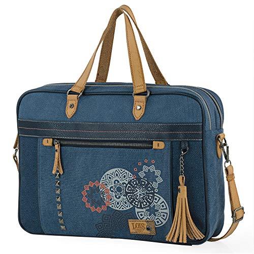 Lois - Bolso maletin Portatil para Trabajo Mujer. Portadocumentos...