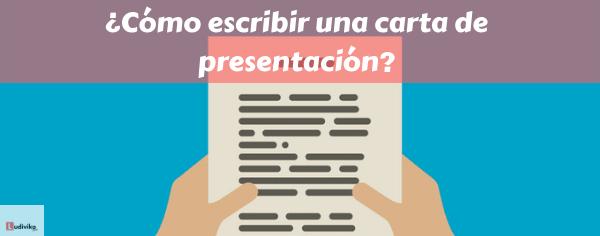 Cómo escribir una carta de presentación