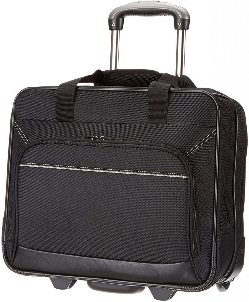Amazon Basics - Maletín para portátil con ruedas barato maletines de trabajo