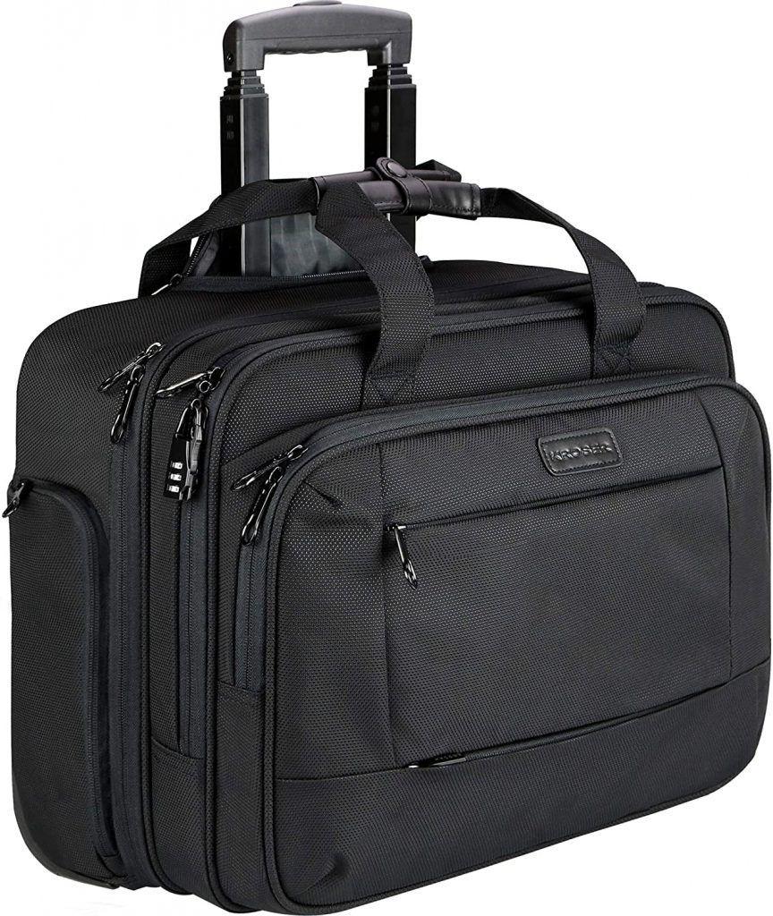 KROSER Maletín con Ruedas Premium Impermeable, portatil hasta 17.3 pulgadas maletines de trabajo