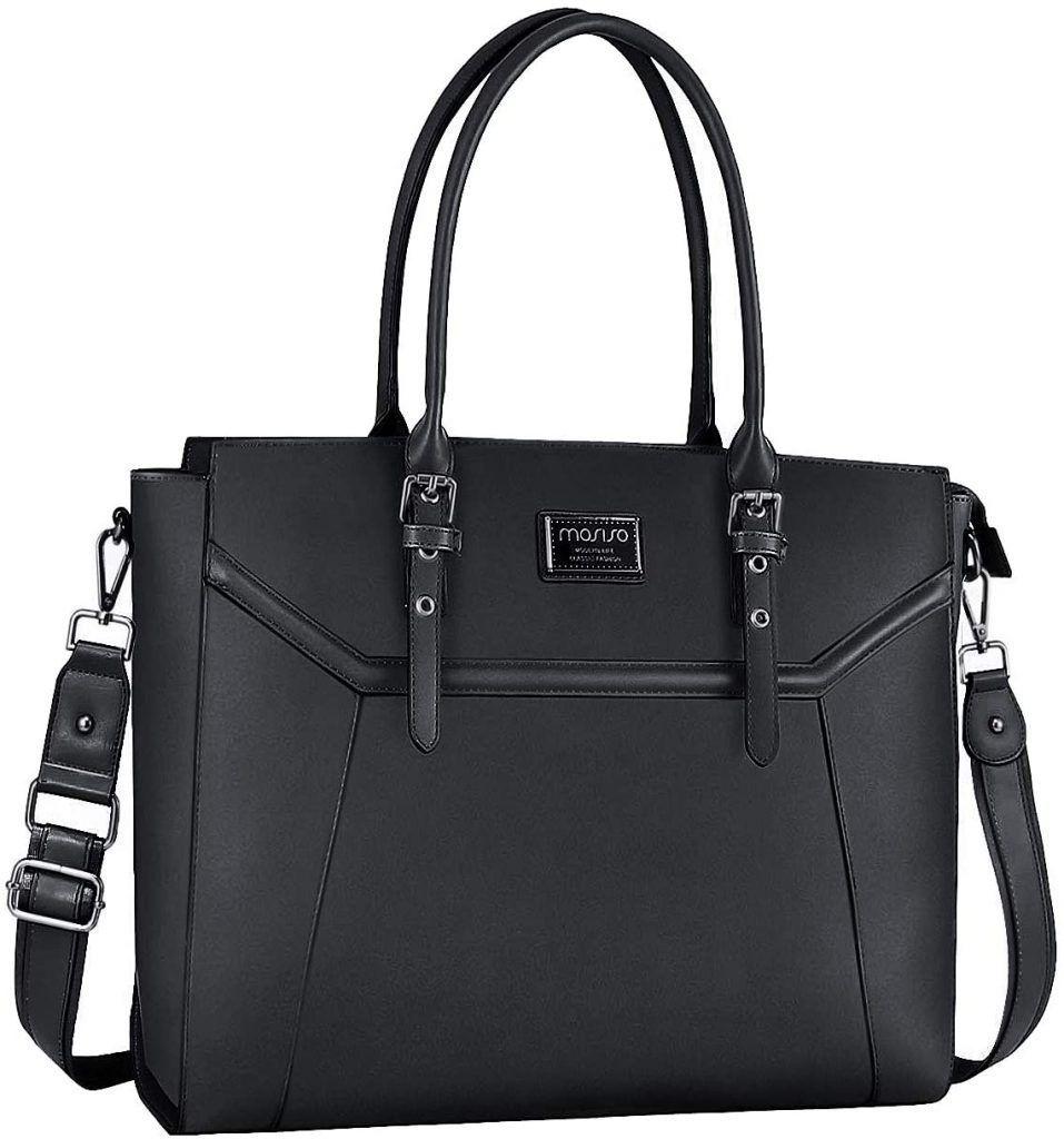 Maletín Bolso de Mano con Grueso Compartimiento negro maletines de trabajo
