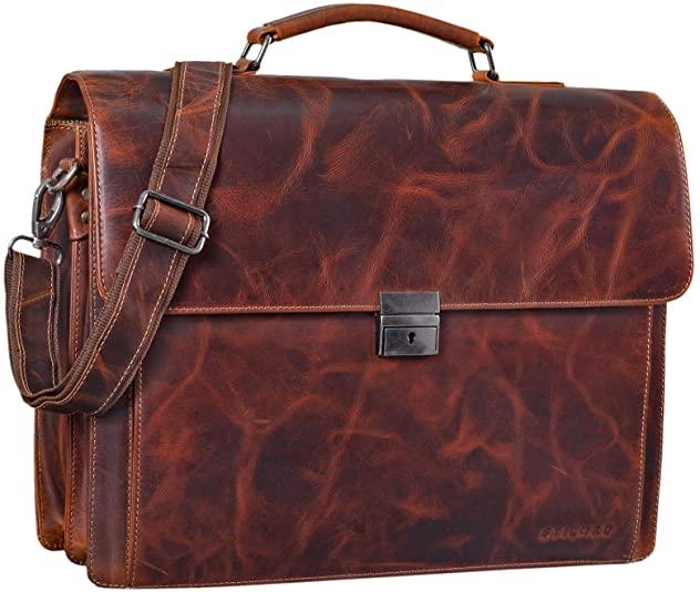 STILORD 'Johann' Maletín Piel maletines de trabajo