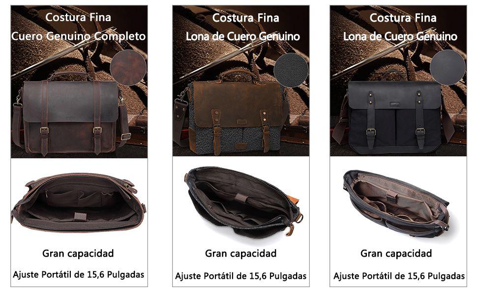 VASCHY Bolso Hombre,Bolsa Bandolera online maletines de trabajo